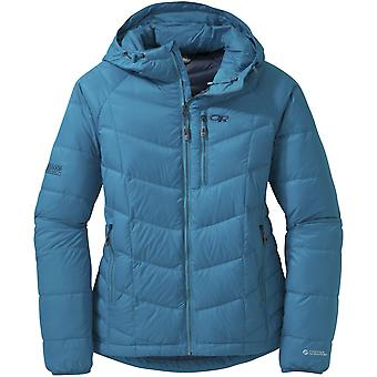 Outdoor Research Womens Sonata Hooded Down Jacket Oasis/Night (UK Size 10)