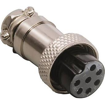 Mini DIN connector Connector, straight Number of pins: 8 Silver BKL Electronic 0206011 1 pc(s)