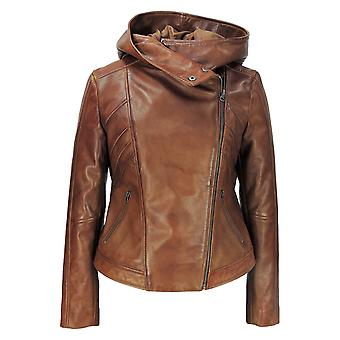 Sasha High Fashion Womens lederen jas