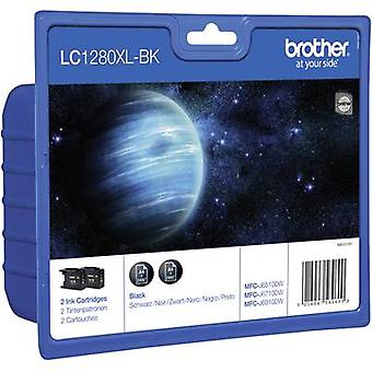 Brother Ink LC-1280XLBK Original Pack of 2 Black LC1280XLBKBP2DR