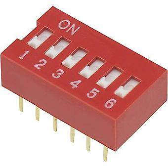 DIP switch Number of pins 6 Slide-type TRU COMPONENTS DSR-06