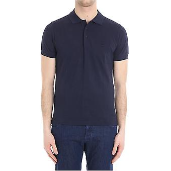 Brooks Brothers men's 100056074 blue cotton polo shirt