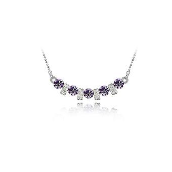 Womens Light Purple Pendant Necklace