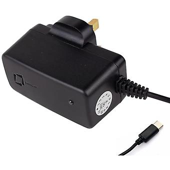 InventCase 1.5m USB Type C Portable Travel 3 Pin Mains AC Wall Charger Power Adapter Plug for HTC U11/U11+/U11 Life/U11 Eyes/U12/U12+
