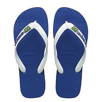 Havaianas Havaianas Marine Blue Brazil Logo Flip Flops