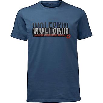 Jack Wolfskin Mens Slogan Lightweight Cotton Short Sleeve T-Shirt