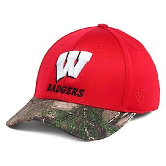 Wisconsin Badgers NCAA TOW Region Camo Stretch Fitted Hat
