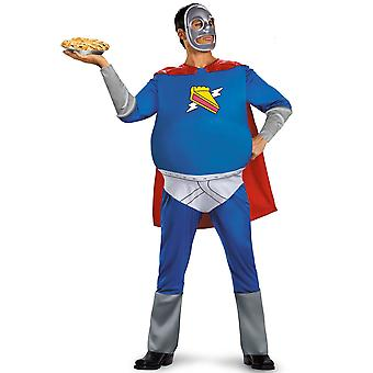 Pie Man The Simpsons Superhero Homer Cartoon Funny Adult Mens Costume Plus XXL