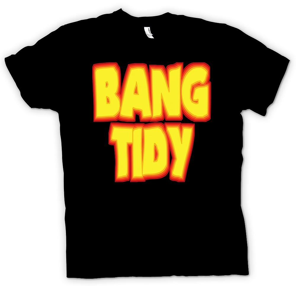 Mens T-shirt - Bang Tidy - Funny