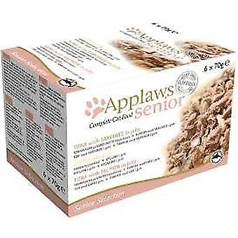 Applaws gatto Tin Senior cibo Multi Pack 6x70g (confezione da 4)