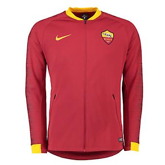 2018-2019 AS Roma Nike Anthem Jacke (Team rot)