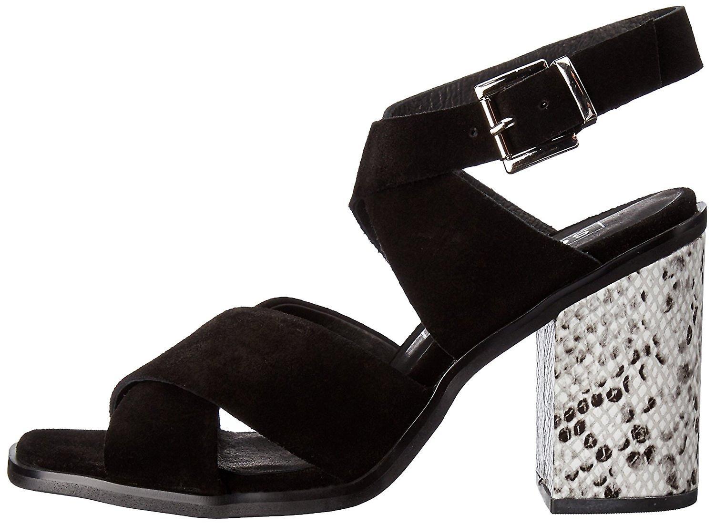 Tacco di Sol Sana Womens whitney Suede Open Toe Sandali Slingback Casual