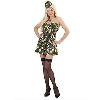 Army Girl (Corset Skirt Hat)