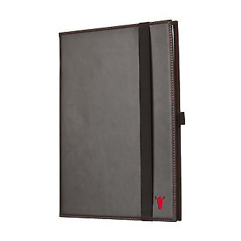 Black Italian Leather Paper Notebook Cover (a4 And A5 Available)