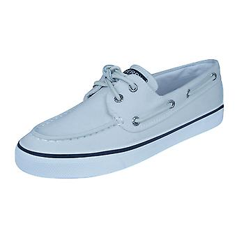 Sperry Bahama Womens Deck / Canvas Boat Shoes - White