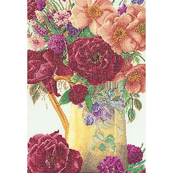 Rose Bouquet On Aida Counted Cross Stitch Kit-9.5