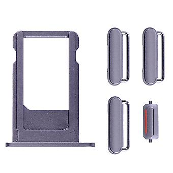 Grey Side Buttons Set with SIM Tray For iPhone 6S Plus