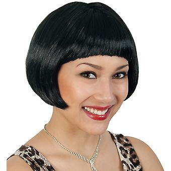 Party wig of cats black Bob pony short