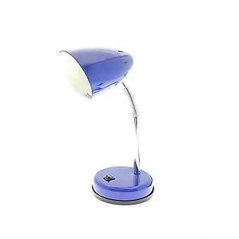 Lampada da scrivania orientabile di Innoteck colorato, metallo, blu marino 40 watt