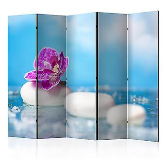 Skærmvæg - Pink Orchid and white Zen Stones II [Room Dividers]