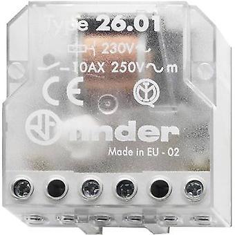 Finder 26.01.8.012.0000 10A Step Relay 26.01.8.012.0000 12 V AC SPST-NO 10 A Max(AC1) 2500 VA/(AC15, 230
