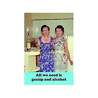 Все, что нам нужно это сплетни & алкоголь Смешные холодильник магнит