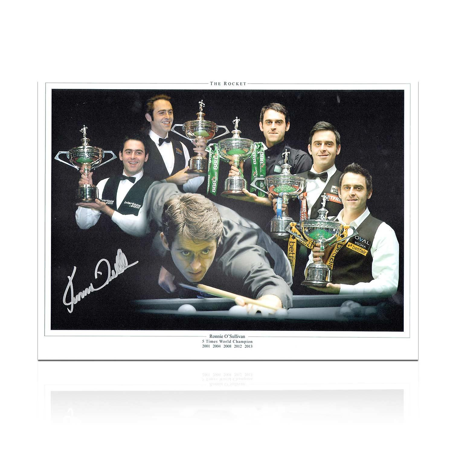 Ronnie O& 039;Sullivan Signed Snooker Photograph  Five Times World Champion Montage