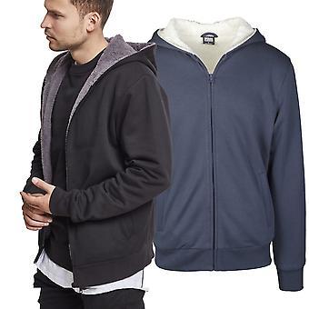 Urban classics - winter Sherpa lined fleece Zip Hoody