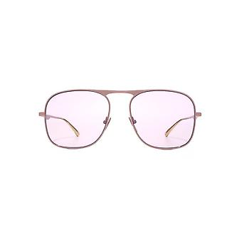 Gucci Flat Top Metal Square Sunglasses In Violet