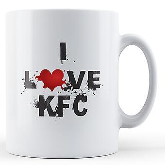 Jeg elsker KFC trykte krus