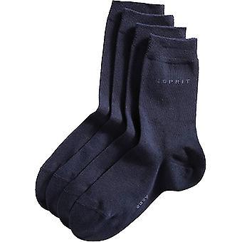 Esprit básico 2 fácil embalar calcetines de media pierna - Marina Armada