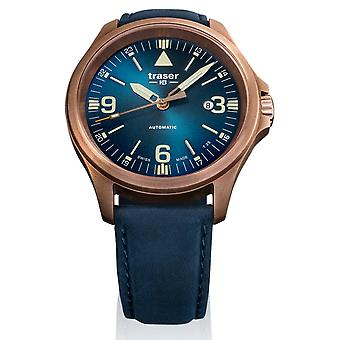 Traser H3 watch P67 officer pro automatic bronze blue 108074