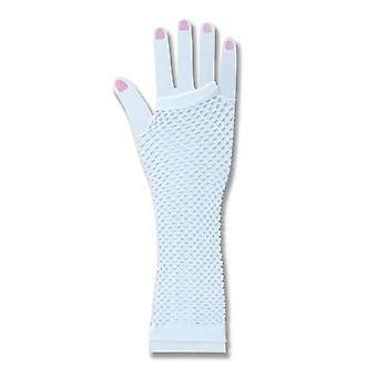 Bnov Fishnet Vingerloze handschoenen wit
