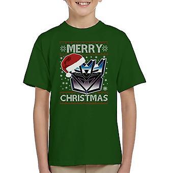A Decepticon Merry Christmas Transformers Kid's T-Shirt