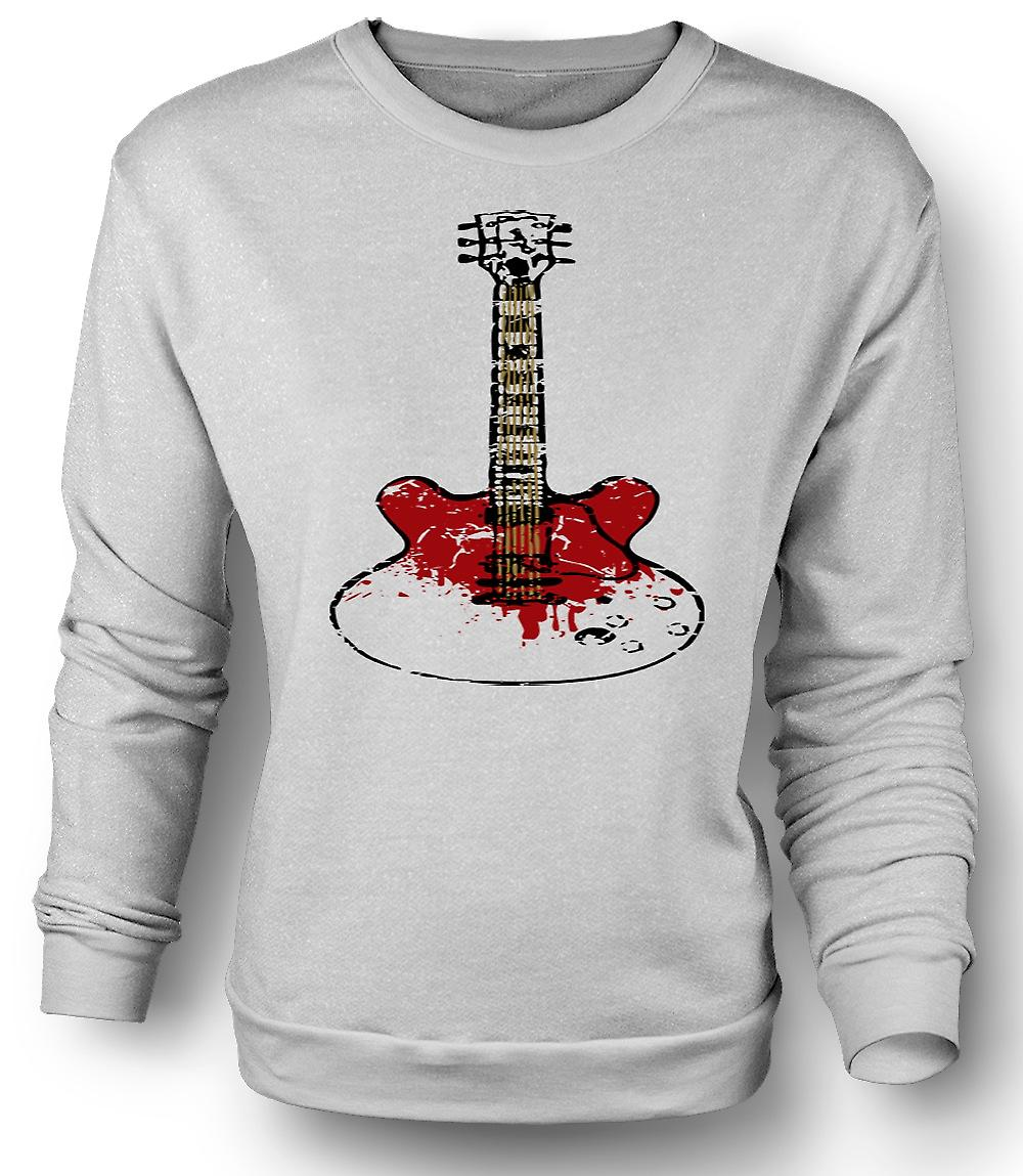 Mens Sweatshirt Gibson SG gitar Rock Blues musikk