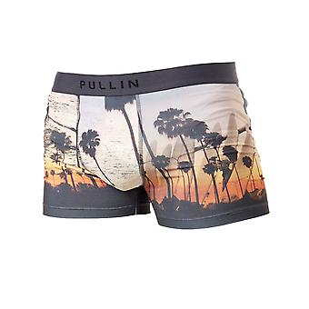 Pull-In Grey-Orange Malibu Boxer Shorts