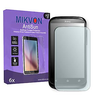 HTC T328e Screen Protector - Mikvon AntiSun (Retail Package with accessories) (reduced foil)