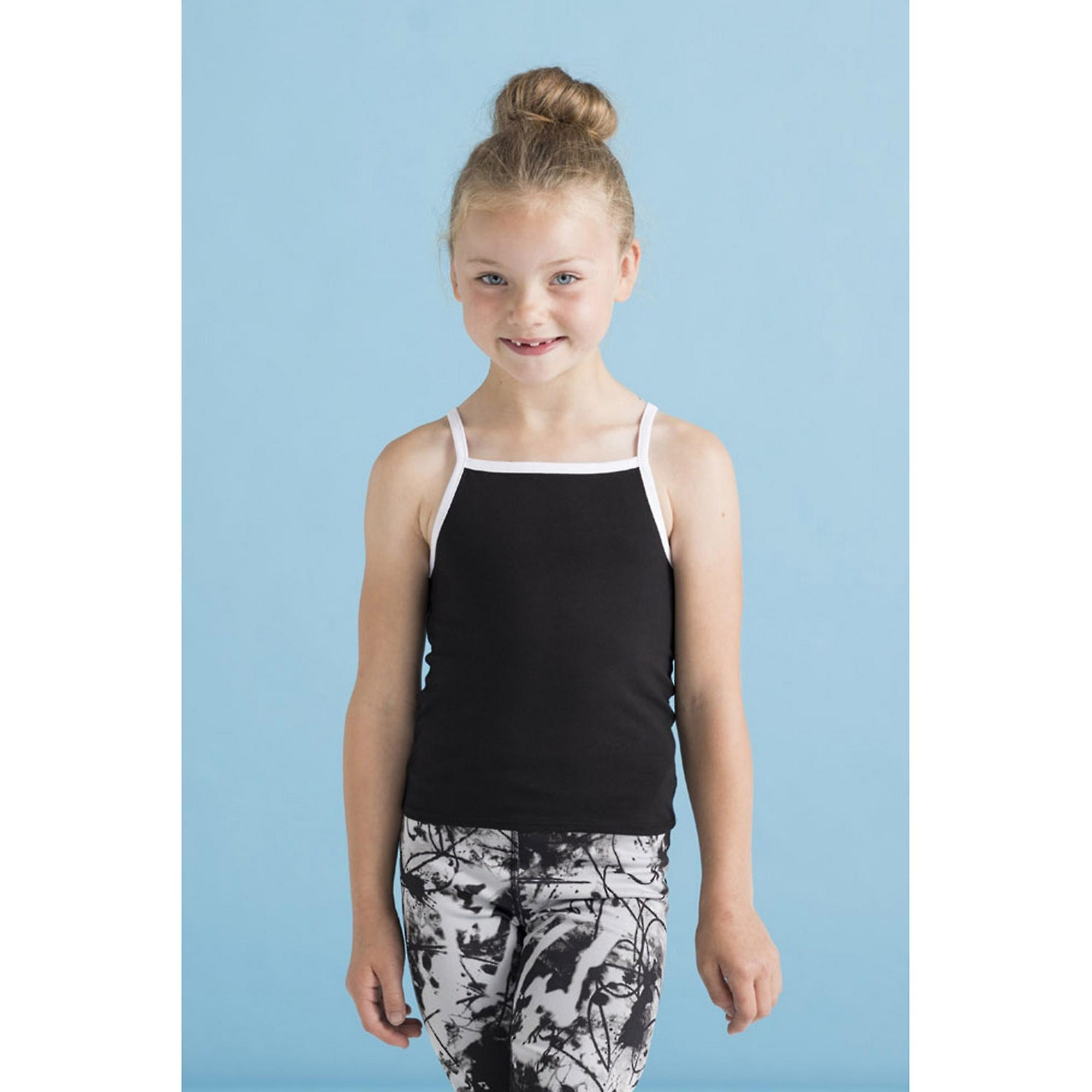 Skinni Fit Chidlrens Girls Feel Good Stretch Contrast Strappy Vest