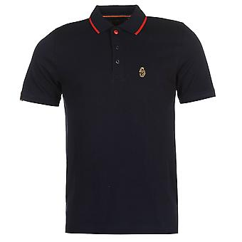 Luke Sport Men Mead Polo Shirt Stripe Cotton Casual Short Sleeve Collar Neck Tee