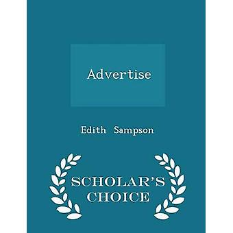 Adverteren geleerden keuze Edition door Sampson & Edith