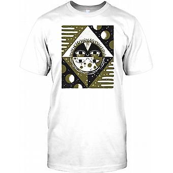 Aztec solen Moon Design - Maya Mens T-skjorte