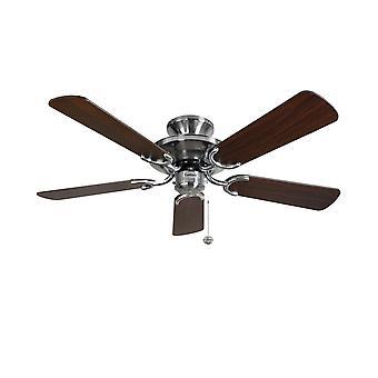 Ceiling Fan Mayfair Steel / Dark Oak 107cm / 42
