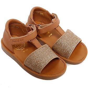 Pom D'Api Poppy Tao Easy Sandal, Camel /Dore