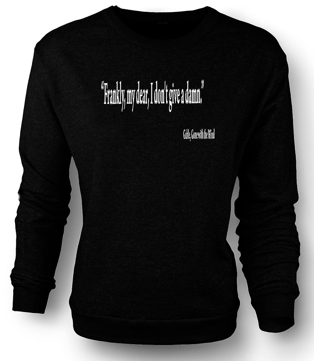 Mens Sweatshirt Gone with the Wind - Gable