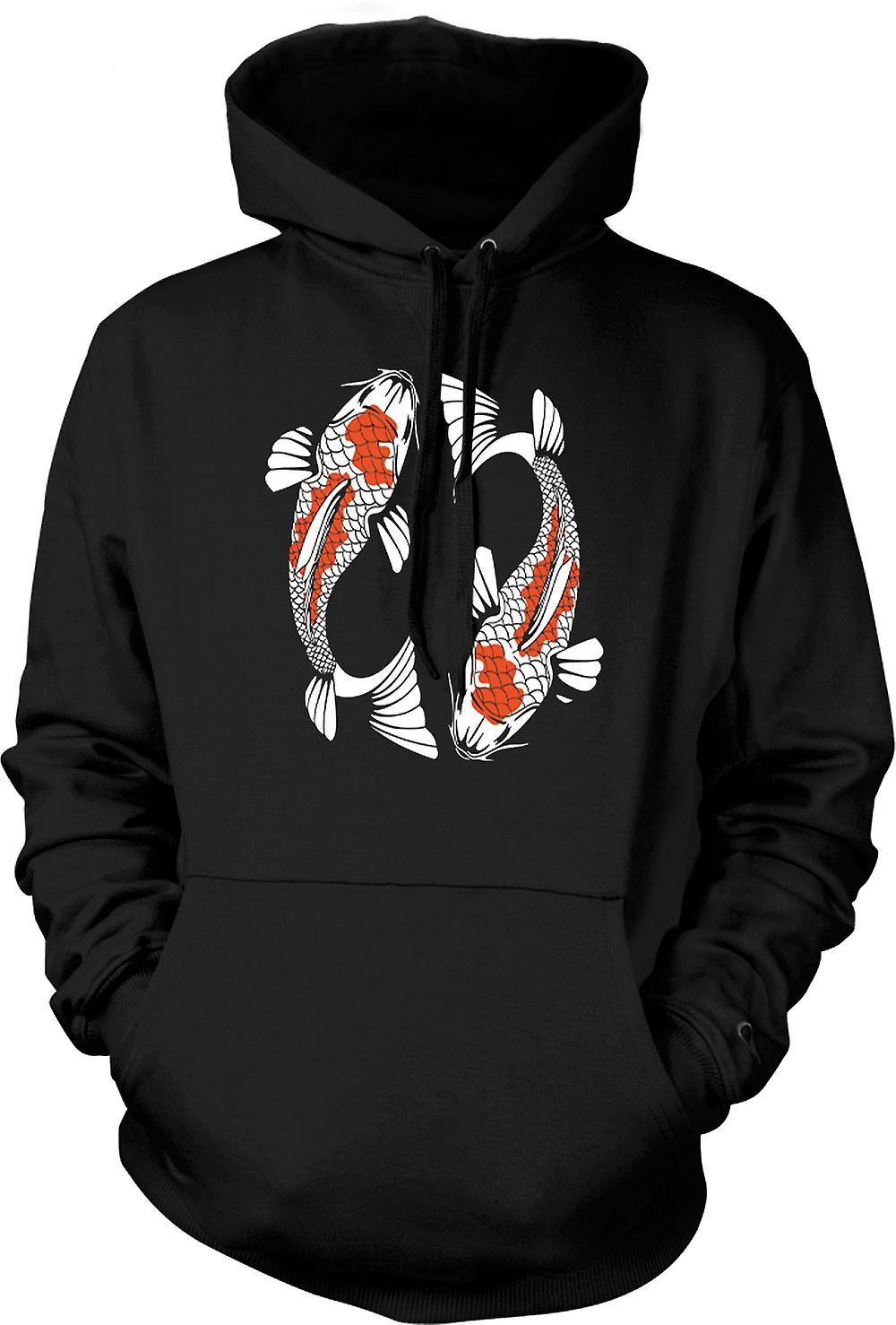 Mens Hoodie - Koi karp Cool fisk