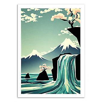 Art-poster-vattenfall Dreams-Yetiland 50 x 70 cm