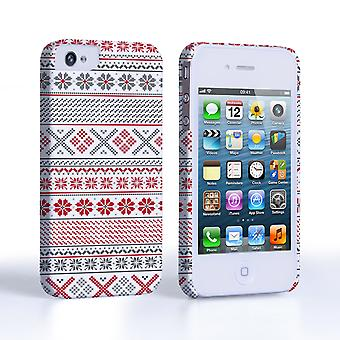 Caseflex iPhone 4and4S Fairisle Case – Red, White and Grey