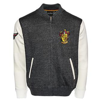 Licensed harry potter™ unisex gryffindor™ applique embroidery baseball jacket