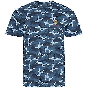 Royal Army Service Corps veterano-licenciado British Army bordados camuflagem impressão T-shirt