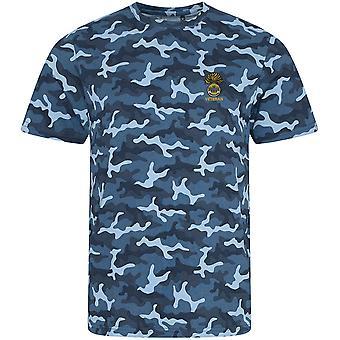 Real Inniskilling Fusiliers 1ª veterano-licenciado British Army bordados camuflagem impressão T-shirt